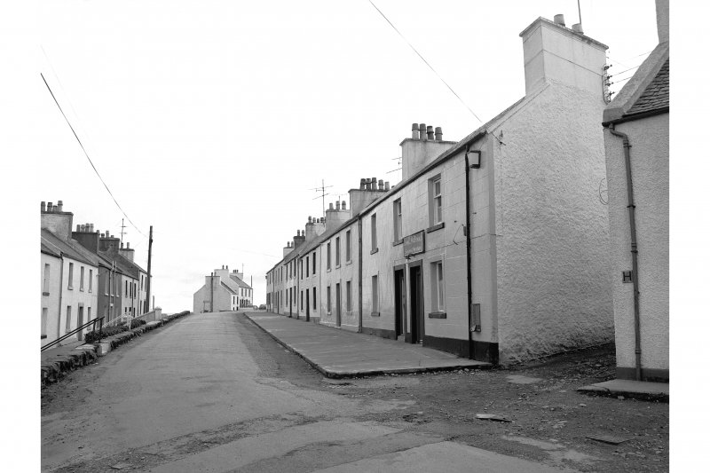 Islay, Port Charlotte General view looking SW showing cottages on Main Street whose main entrances point ESE
