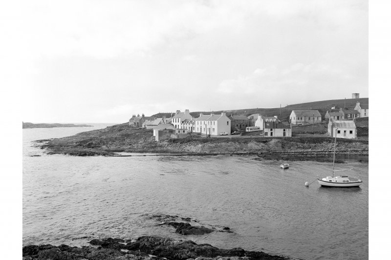 Islay, Portnahaven General view from SSE showing W section of Portnahaven