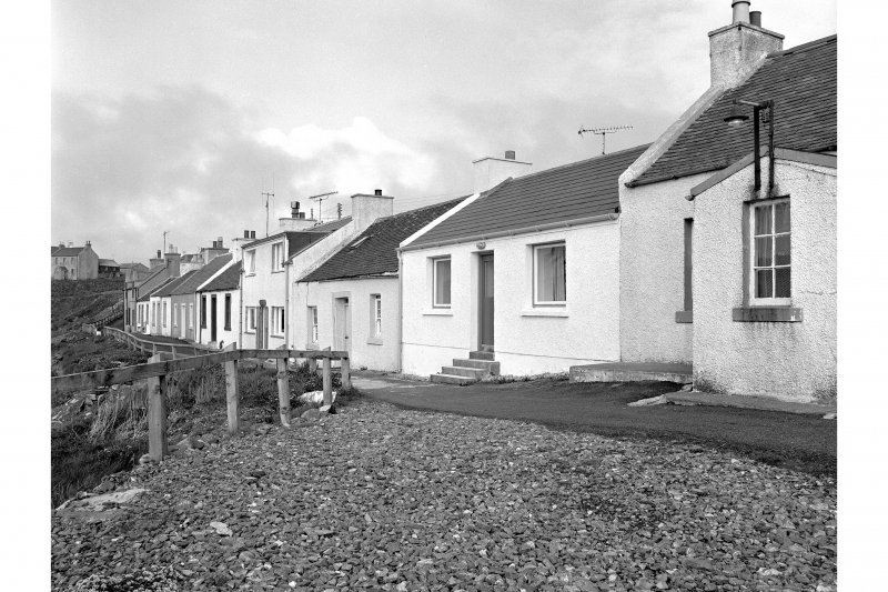 Islay, Portnahaven, 1-23 King Street, Terraced Cottages General view from WSW showing NE front of numbers 11-18