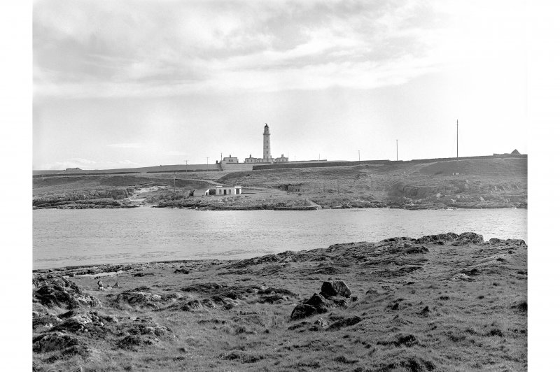 Islay, Orsay, Rhinns of Islay Lighthouse Distant view from NE showing NE front