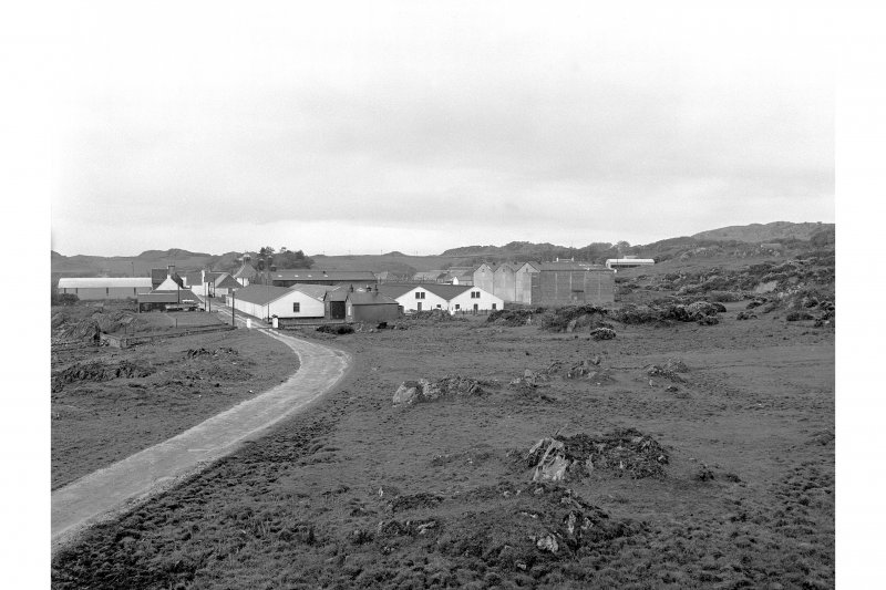 Islay, Ardbeg Distillery Distant view from ENE showing NE front