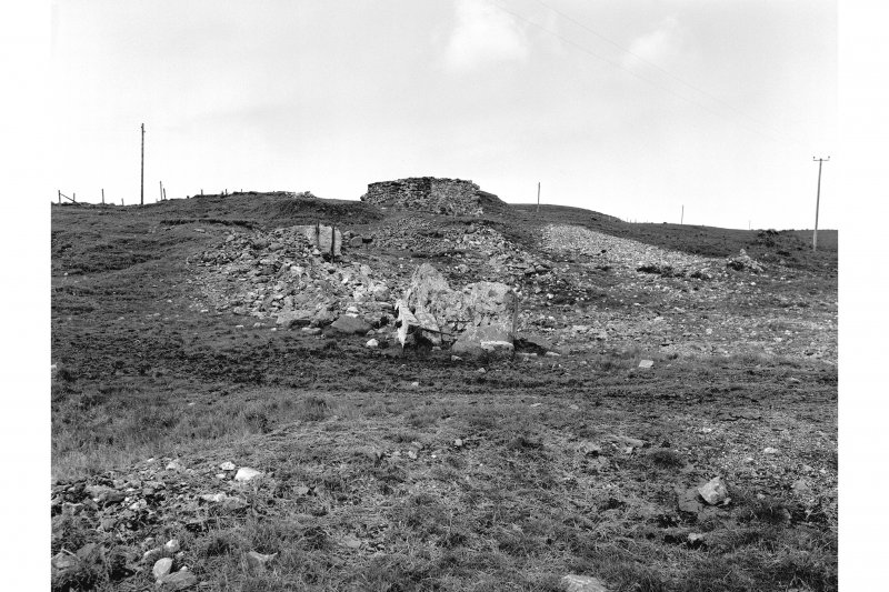 Islay, Mulreesh, Lead Mines General view from SSE showing SE and SW fronts of ruin to E of reservoir with ruins to the SE of reservoir in foreground