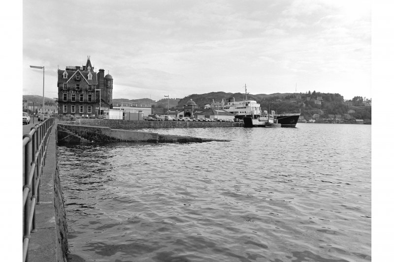Oban, North Pier View from N showing NNW front of slipway, NW front of North Pier and NNW front of Columbia Hotel
