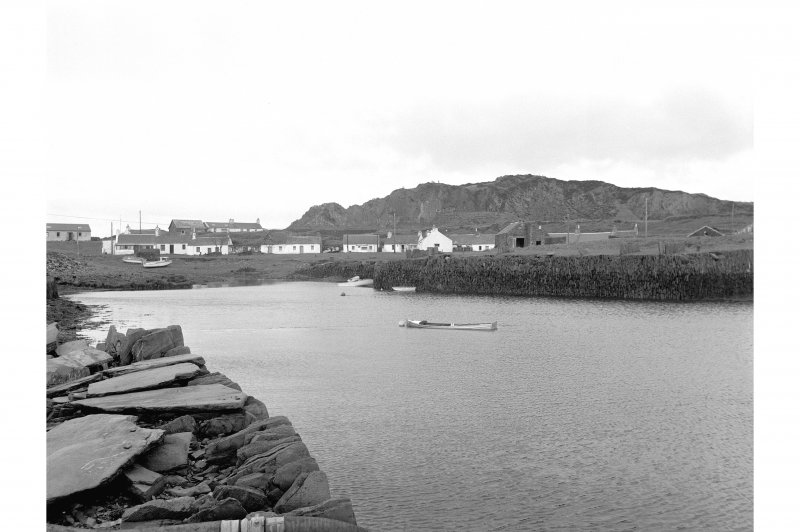 Easdale Harbour View from ENE showing ESE front and NE corner of slate loading jetty on W side of harbour