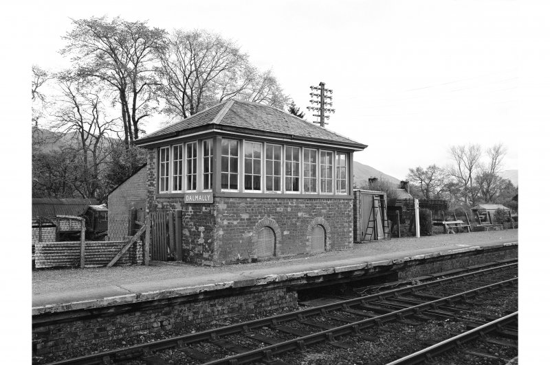 Dalmally Station View from SW showing W and S fronts of signal box