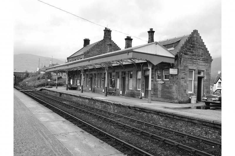 Dalmally Station View from SE showing SSW and ESE fronts of main station building