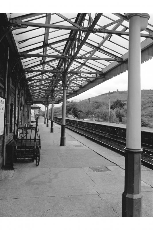 Dalmally Station View looking ESE showing awning of main station building