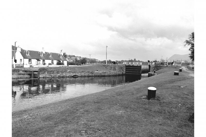Corpach, Caledonian Canal View of lock at E end of basin