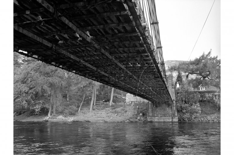 Oich, Old Suspension Bridge View of underneath of deck