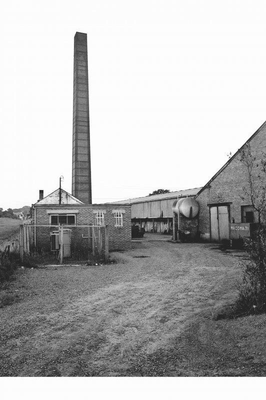 Dalry, Brodlie Brickworks General view from NNE showing chimney