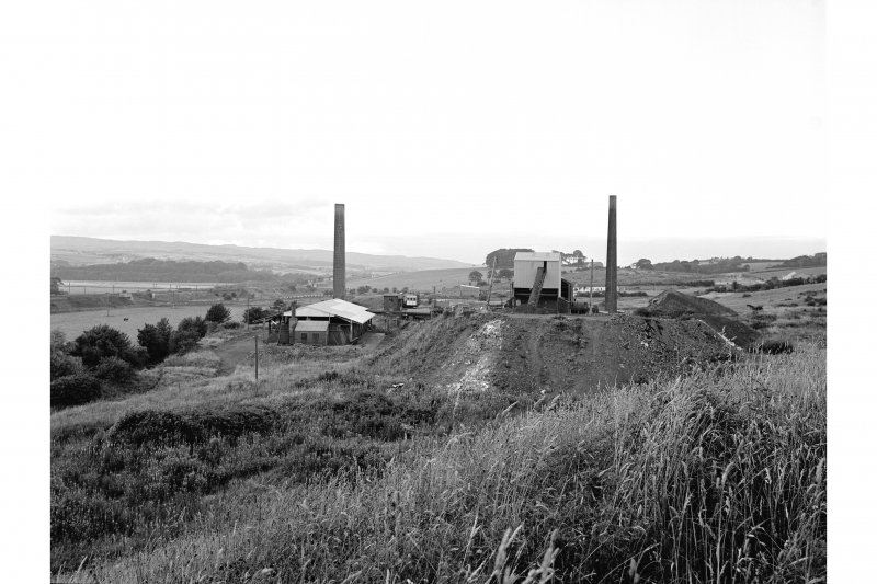 Dalry, Carsehead Brickworks General view from SSW showing brickworks on site of Blair Ironworks