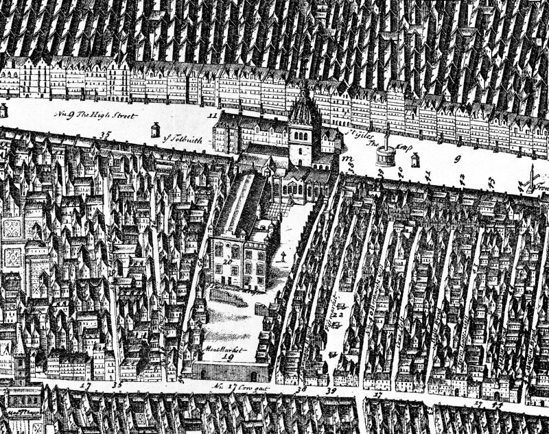 "Map of High Street-copied from ""The Early Views and Maps of Edinburgh 1544-1852"""