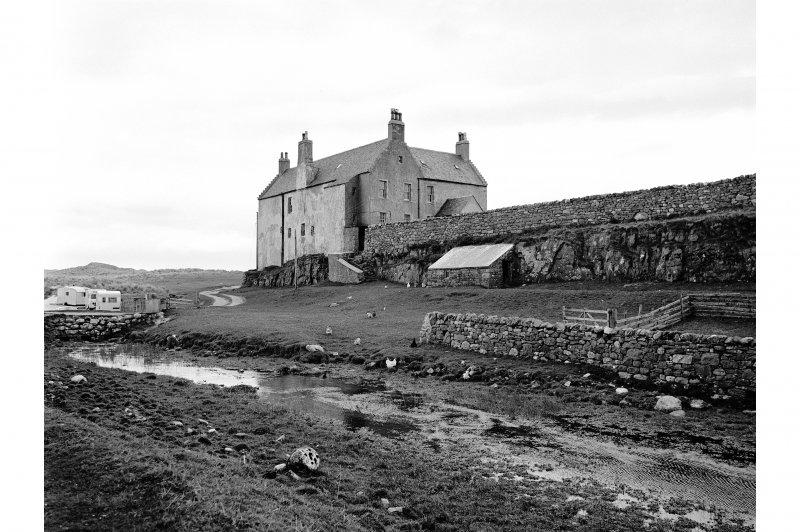 Balnakeil House View from SW showing Balnakeil House and SSW front of bridge