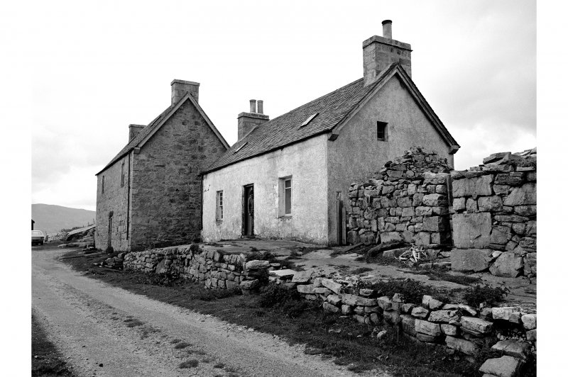 Portnancon, Fishing Station View from N showing ENE front of cottage with storehouse in background