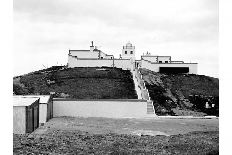 Strathy Point Lighthouse View from S showing SSW front