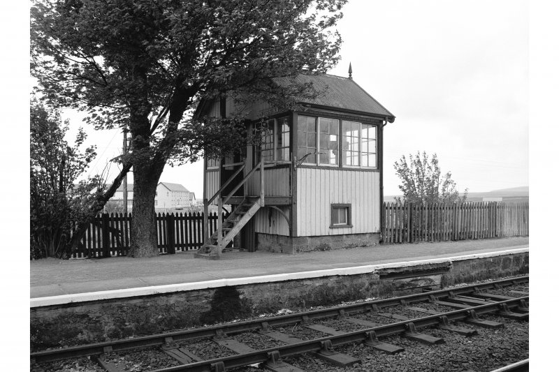 Forsinard Station View from SSW showing WSW and SSE fronts of E signal box
