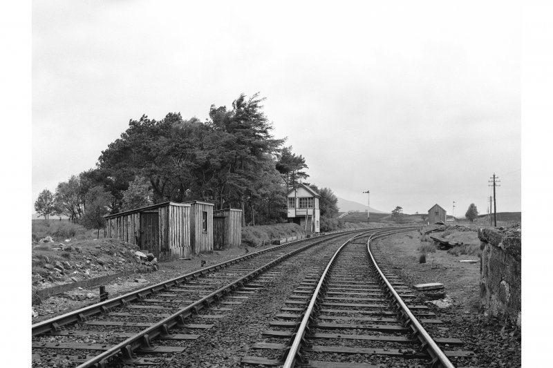 Forsinard Station View looking WSW showing W signal box in distance