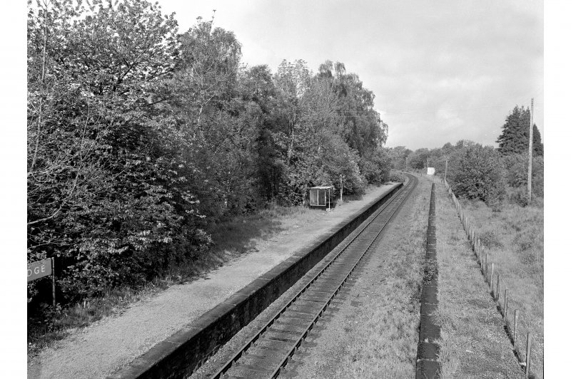 Roy Bridge Station General view looking W showing site of station