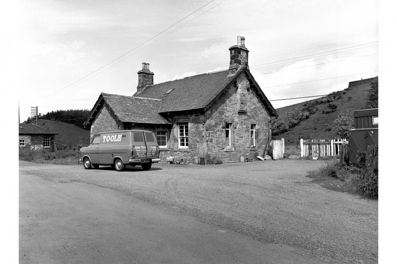 Blackford Station View from SE showing ESE front of main station building