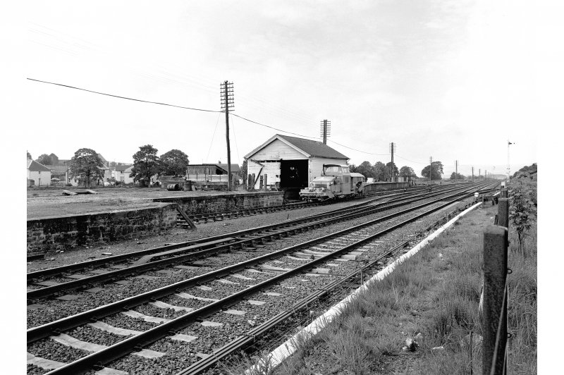 Blackford Station View from ENE showing ESE front of goods shed