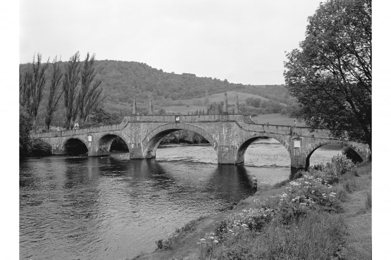 Aberfeldy, Wade's Bridge View from SSE showing SSW front