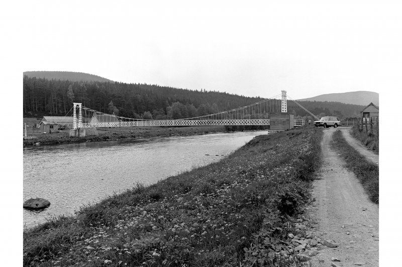 Polhollick, Suspension Bridge View from N showing NNE front