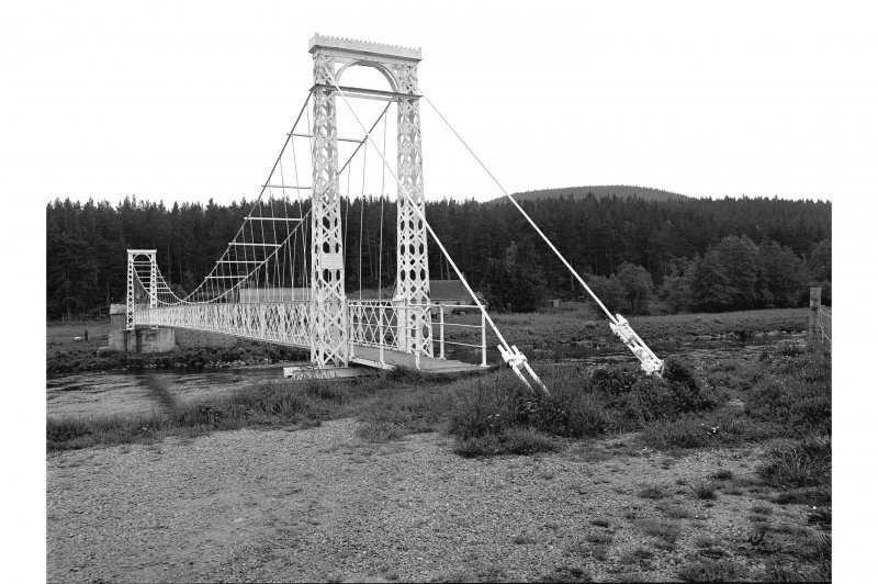 Polhollick, Suspension Bridge View from NW showing NNE front