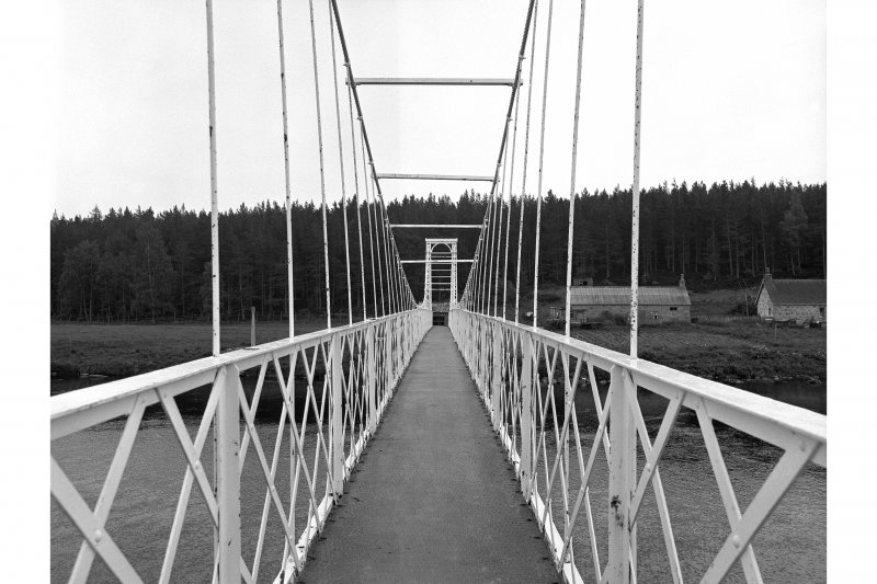 Polhollick, Suspension Bridge View looking ESE along deck