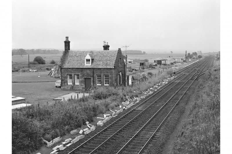 Greenloaning Station View from WSW showing WSW front of down-platform building
