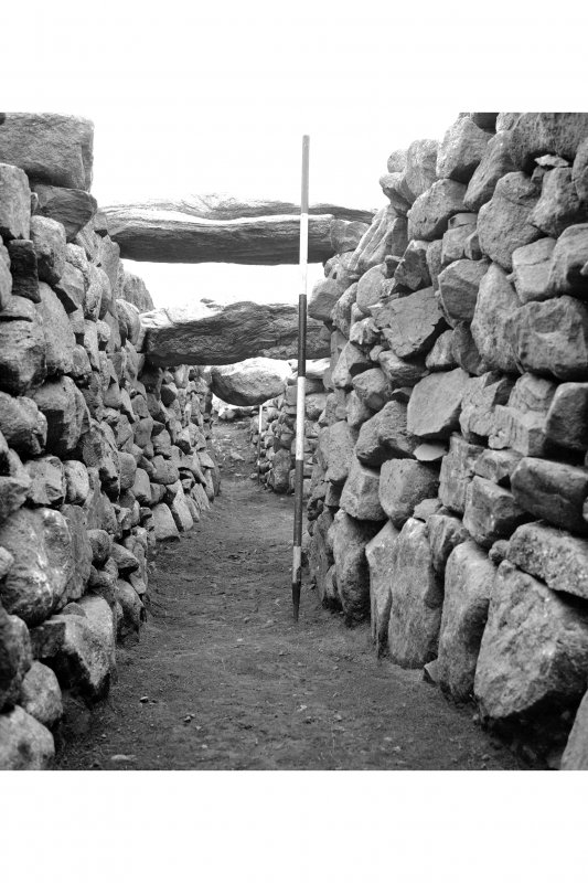 Excavation photograph : View of interior looking towards the entrance.
