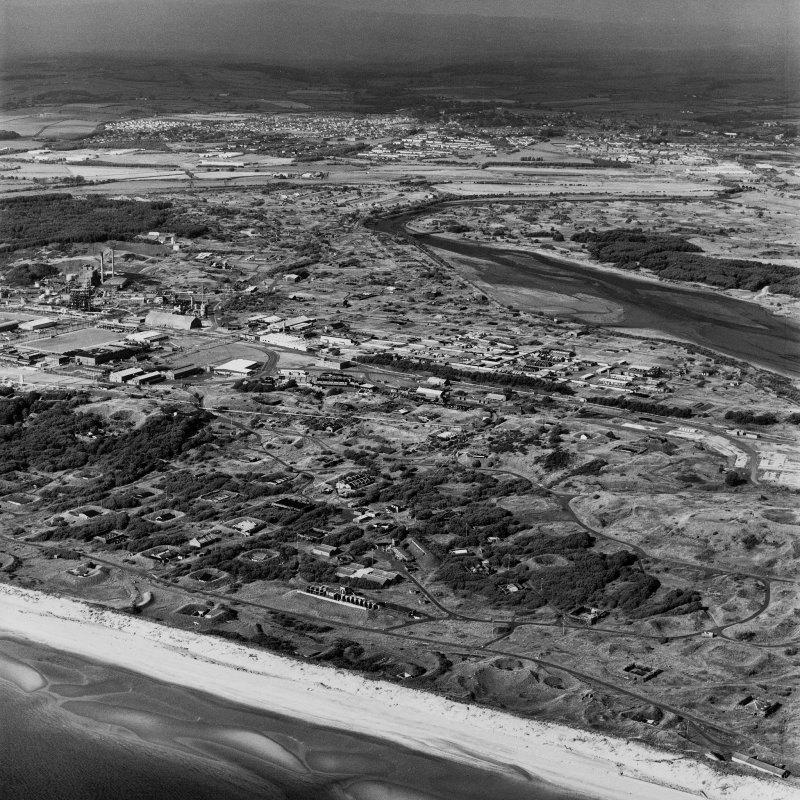Ardeer, Nobel's Explosives Factory, oblique aerial view.