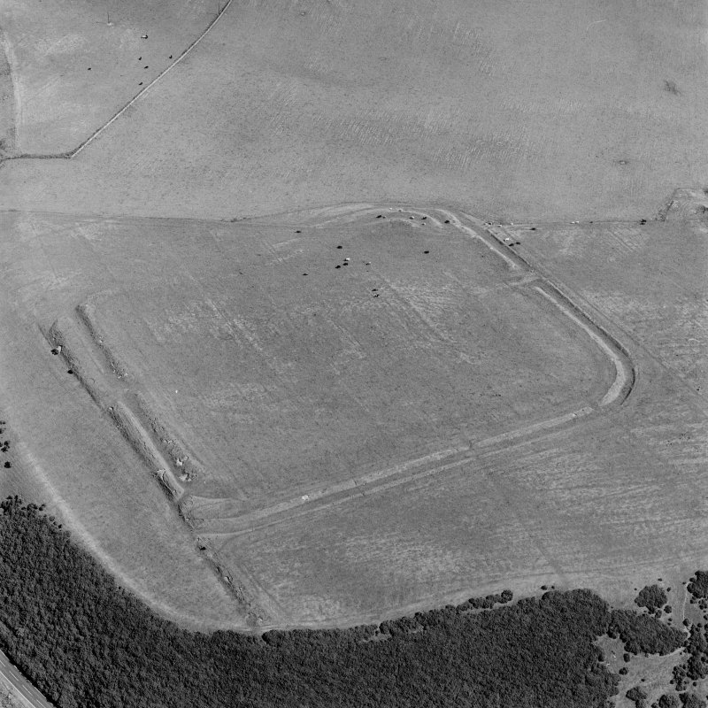 Lyne Roman Fort, oblique aerial view, taken from the S.
