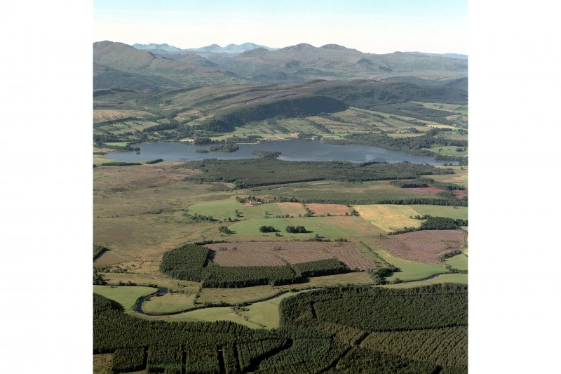 General oblique aerial view of the Lake of Menteith, taken from the S.