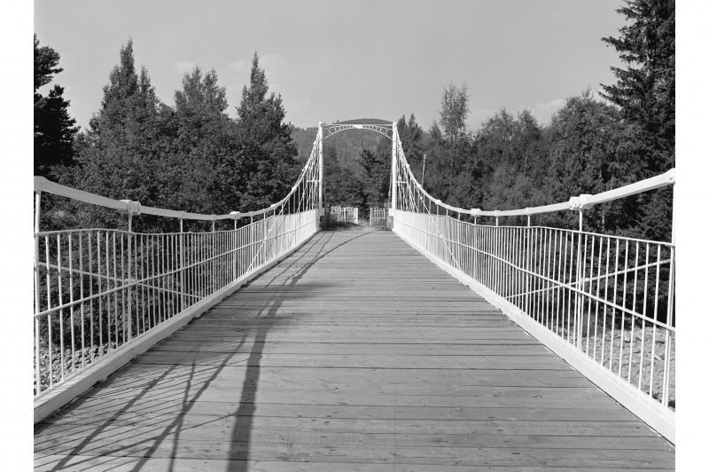 Crathie, Suspension Bridge View along length