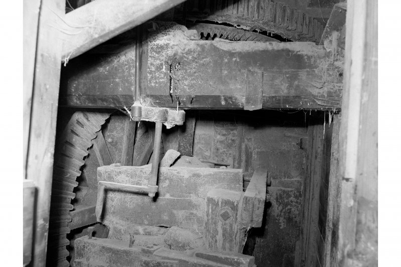 Barry, Upper Mill, Interior View showing gear cupboard