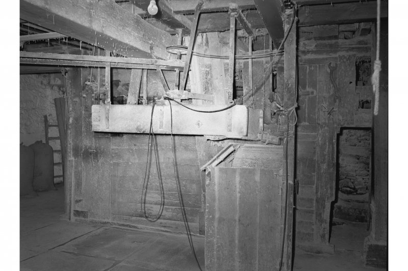 Barry, Upper Mill, Interior View showing shaker and sieve