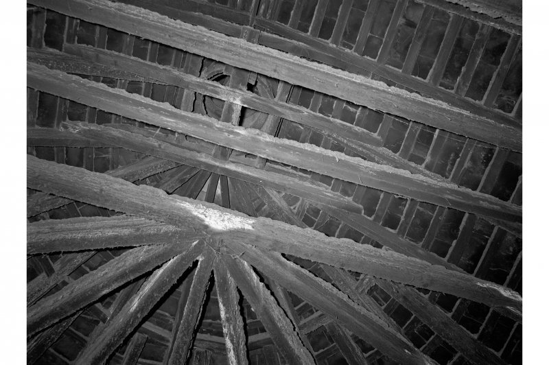 Barry, Upper Mill, Interior View showing kiln roof