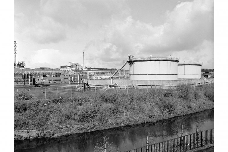 Glasgow, Dawsholm Gasworks View from SE showing works and gas holders (spiral lift)