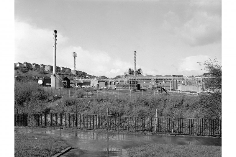 Glasgow, Dawsholm Gasworks General view from E