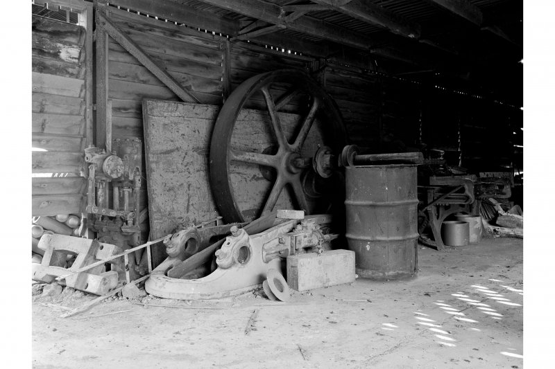 Inchcoonans Tile Works, Interior View showing parts of Shanks 'Caledonia' steam engine
