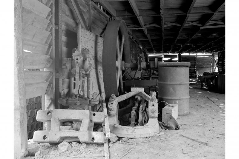 Inchcoonans Tile Works, Interior View showing parts of Shank 'Caledonia' steam engine