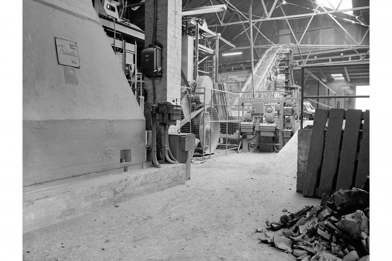 Inchcoonans Tile Works, Interior View showing machinery