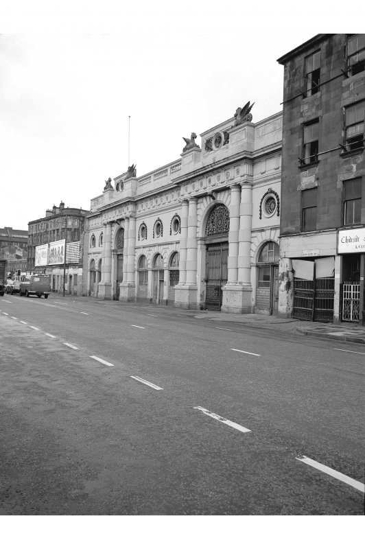 Glasgow, 127-165 Bridgegate, Fishmarket View from SE showing main Clyde Street front