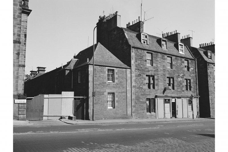Edinburgh, 41-49 Holyrood Road, Tenement and Shop View from S showing SE front of numbers 41-49 with maltings in background