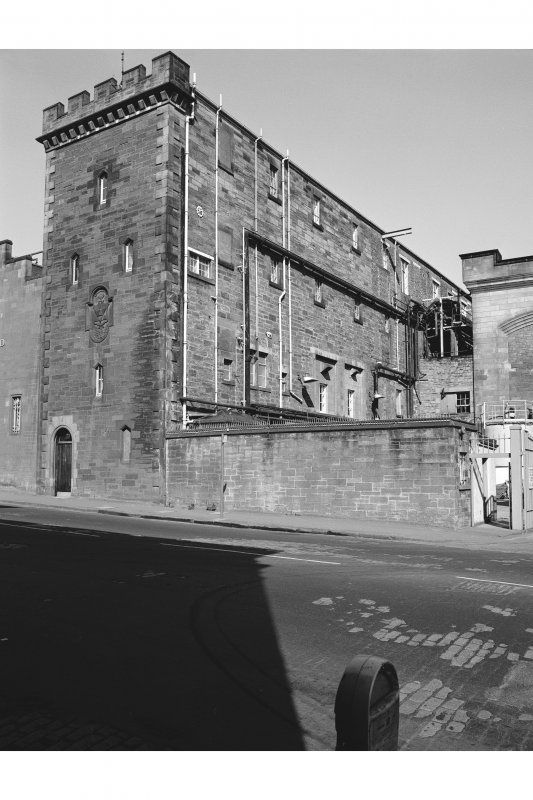 Edinburgh, Holyrood Road, Holyrood Brewery View from E showing SE and NE fronts of number 71