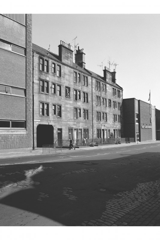 Edinburgh, 77-91 Holyrood Road, Tenements View from SSW showing SE front