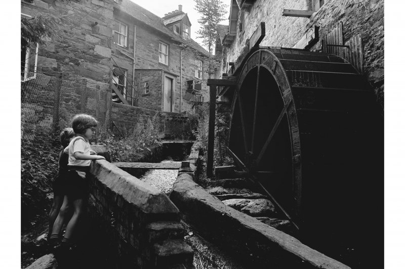 Aberfeldy, Mill Street, Mill View of wheel and sluice