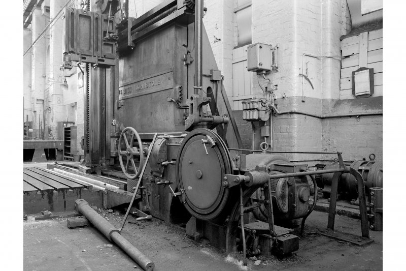 Paisley, Renfrew Road, Vulcan Works, Interior Vie wof Horizontal and Vertical Planing Machine by Thomas Shanks, Fullerton, Hodgart and Barclay