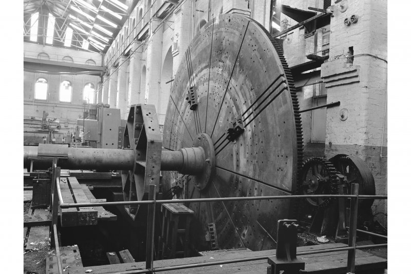 Paisley, Renfrew Road, Vulcan Works, Interior View of large faceplate lathe