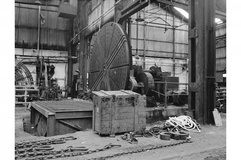 Paisley, Renfrew Road, Vulcan Works, Interior View of geared faceplate lathe